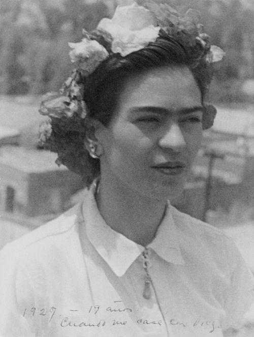 Frida Kahlo at 19yrs, 1927
