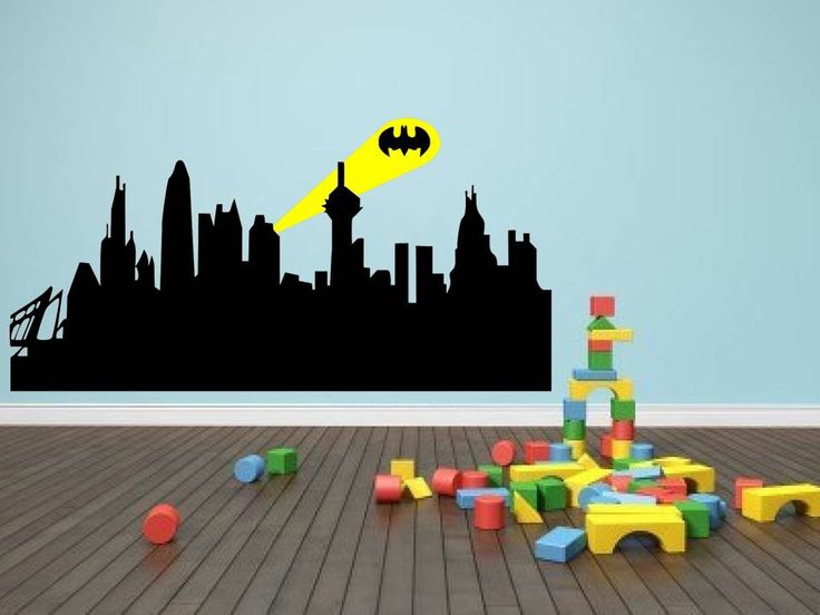 gotham city skyline murals submited images gallery for gt gotham cityscape wall decal