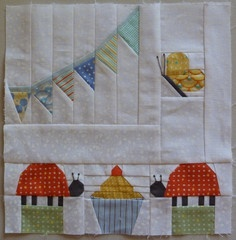Paper Pieced Pattern-A-Day Garden Party Blog Hop Day 13 - Garden Party Munchies by Susan-Claire from GourmetQuilter.