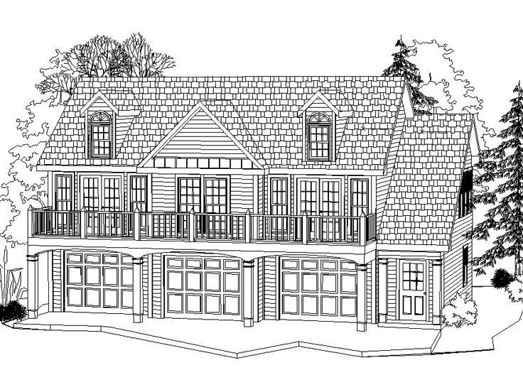 Carriage house plan 053g 0002 one day pinterest for Carriage house garage apartment plans