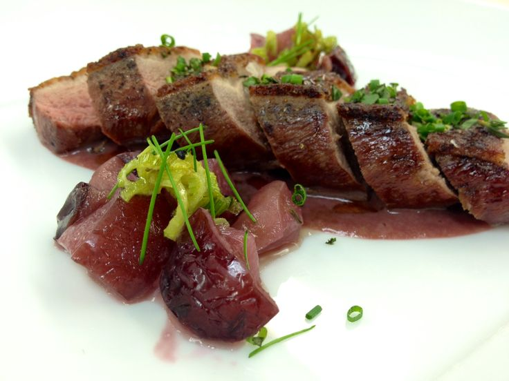 Long Island Duck Breast with pomegranate glaze. Valley at The Garrison ...