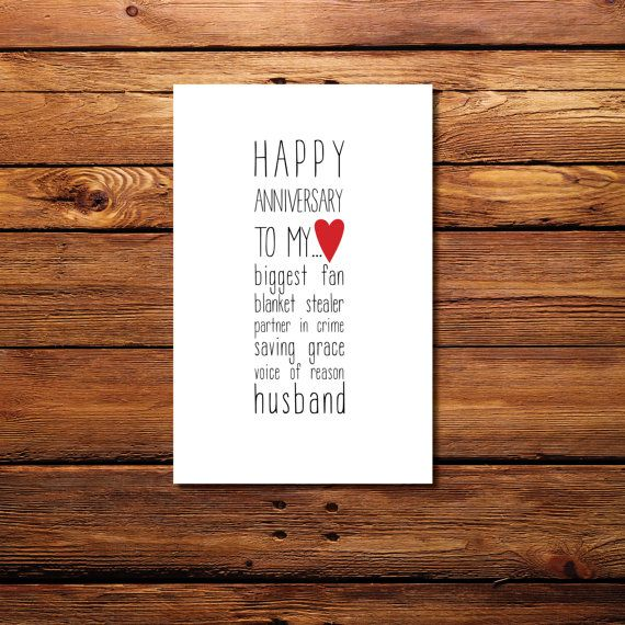 Happy Anniversary to my... Husband Printable Card