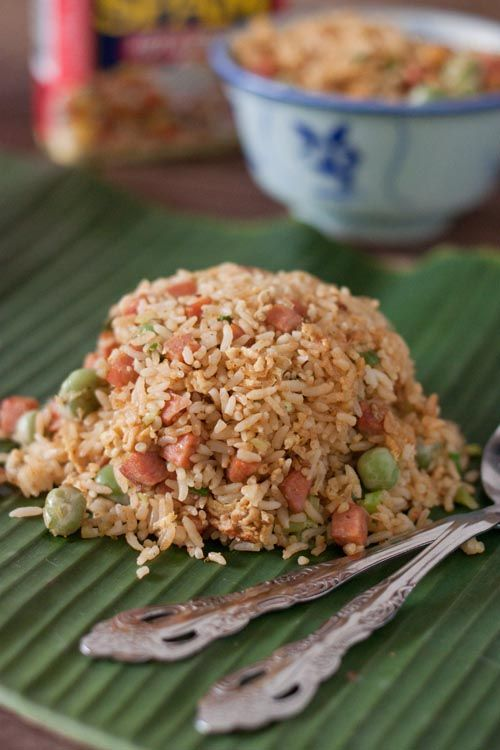 Fried Rice With SPAM and Parboiled Rice | Recipes From atKøkken | Pin ...