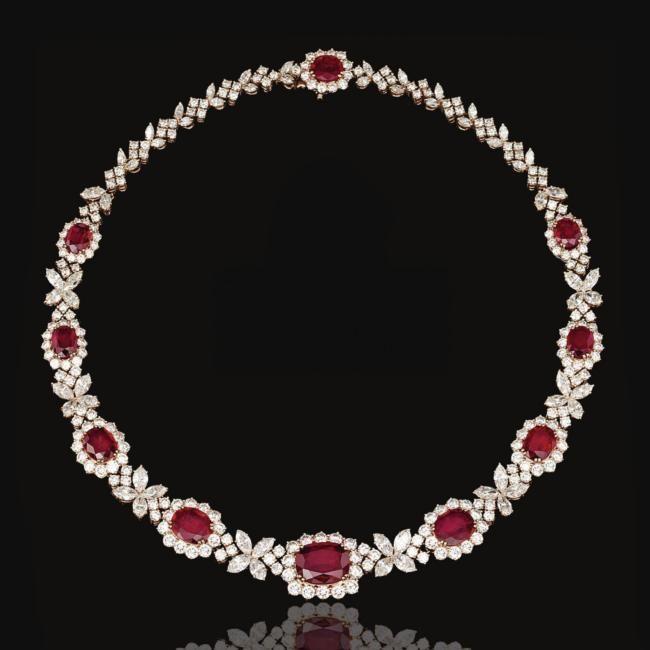 harry winston ruby necklace july birthstone ruby