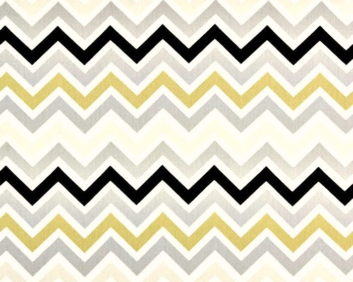 Ikea Einrichtungsplaner Jugendzimmer ~ Home Dec Fabric Yardage  Chevron Stripe Gray, Yellow gold , White