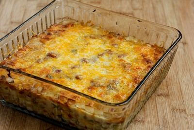 Vegetarian Recipe for Green Chile and Pinto Bean Layered Mexican ...