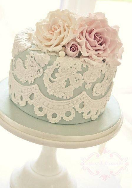 bolo casamento renda