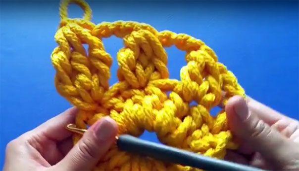 Кластер в вязании крючком 13