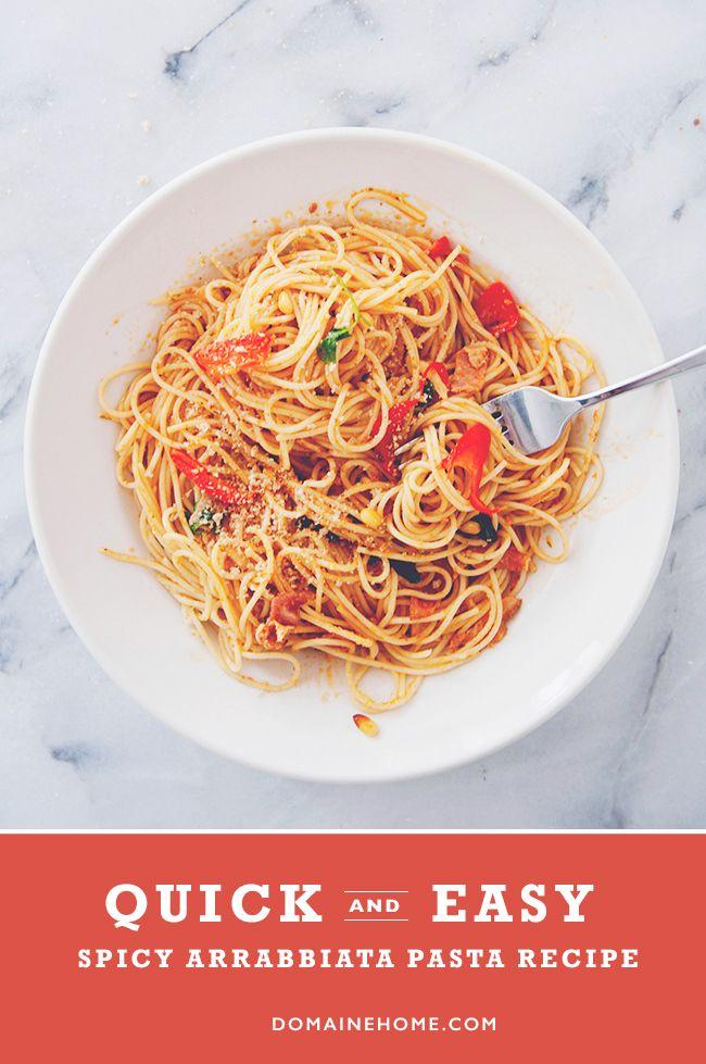 Quick, Easy, and Spicy Arrabbiata Pasta Recipe