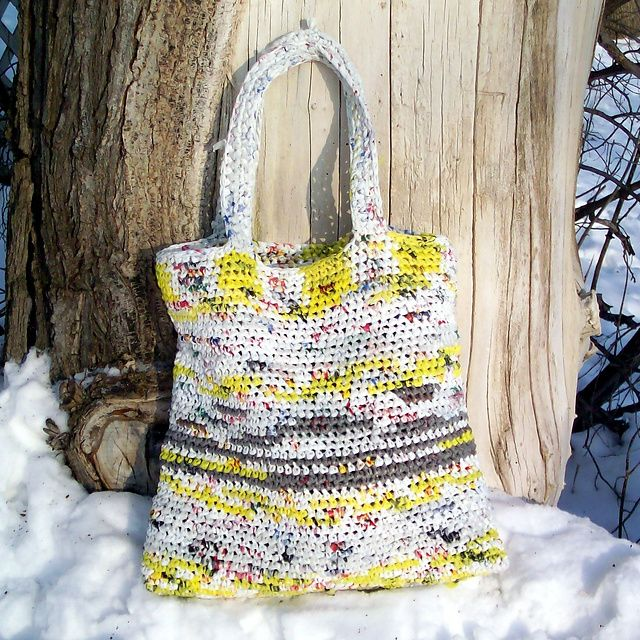 Free Crochet Patterns Plarn Bags : Pin by Bonnie Payeur on Plarn Pinterest