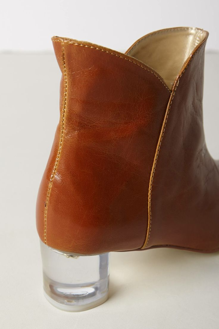 Lucite Heel Booties - anthropologie.com