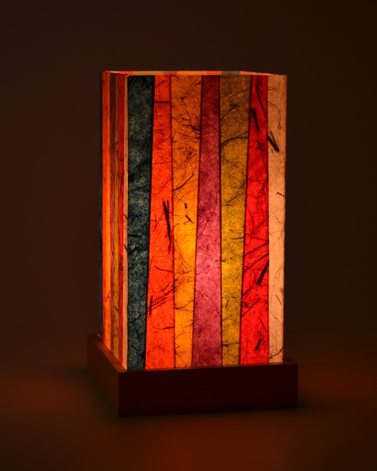 Multicolor Simply Small Stripes Lampshade