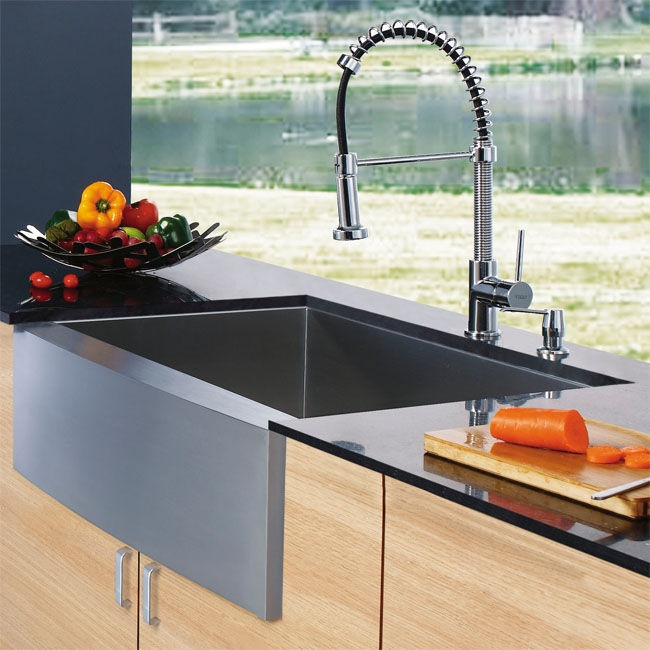 Farmhouse Sink With Faucet : Giganto Deep kitchen sink!! I love this big sink. Avoid splashes and ...