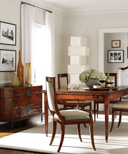 dining room featuring henredon acquisitions veneto dining table and