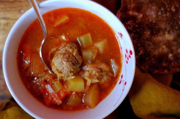 Hearty Italian Meatball Soup. | Soup is on | Pinterest