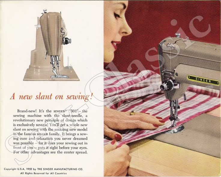 1952 sewing machine ad