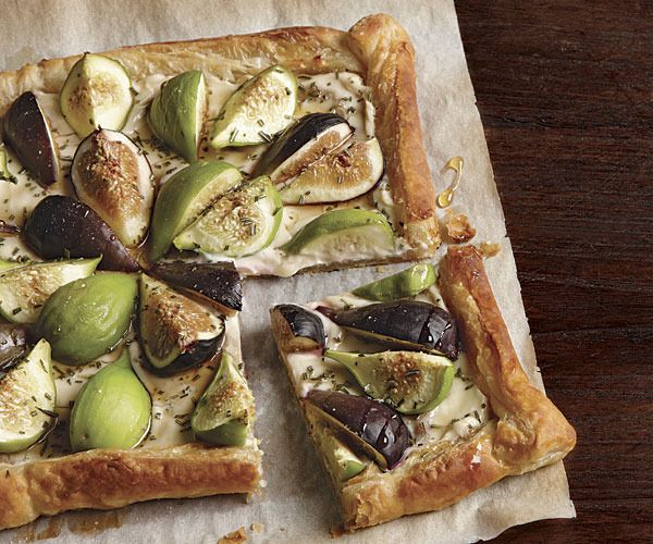 Honeyed Fig and Goat Cheese Tart by Fine Cooking