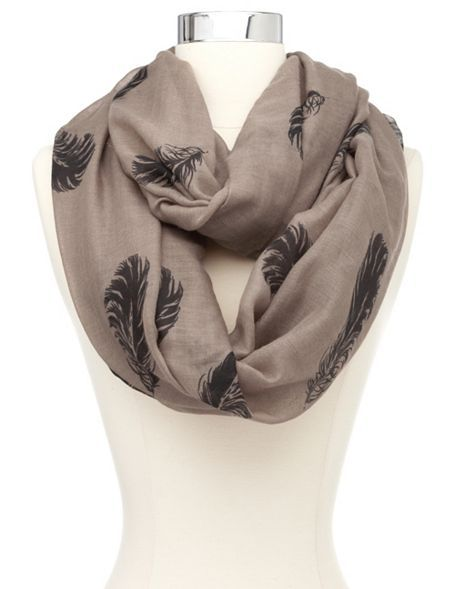 Falling Feathers Infinity Scarf: Charlotte Russe