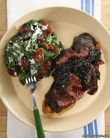 creamed spinach with bacon | Food - Sides | Pinterest