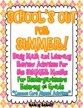 Summer field school holiday homework packet