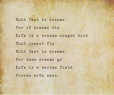 lagnston hughes poem dreams essay