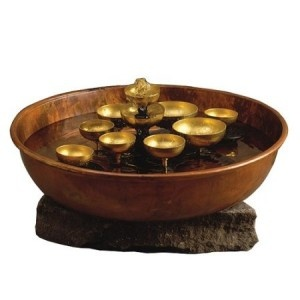 asian fountain stand