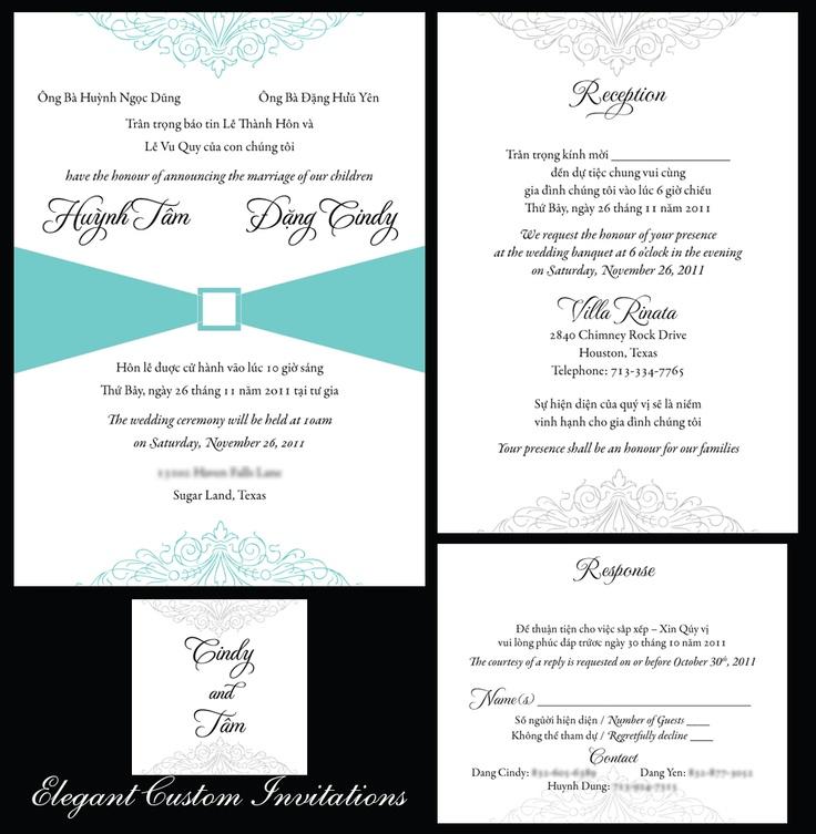 wedding invitation wording vietnamese ~ matik for ., Wedding invitations