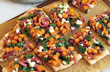 Butternut Squash, Spinach and Goat Cheese Pizza — Punchfork