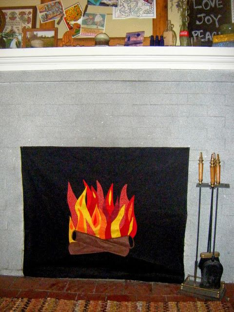 Shellmo Faux Fire Fireplace Insert Shellmo Diy Crafts Pintere