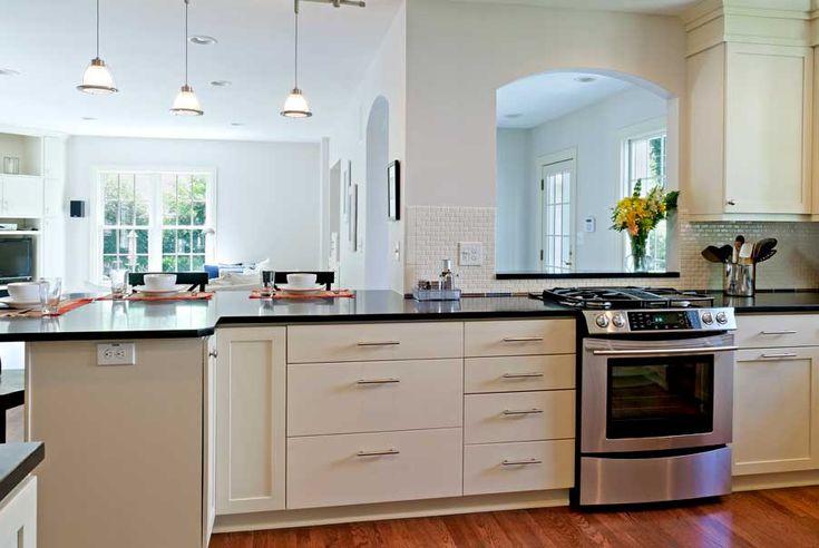 Kitchen peninsula kitchen remodel ideas pinterest - Kitchen peninsula with stove ...