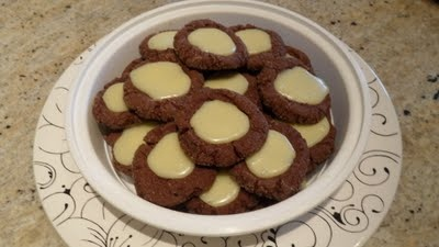 Random Acts of Food: Club: Baked - Chocolate Mint Thumbprint Cookies