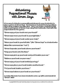 thesis preposition