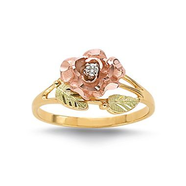 gold engagement rings jcpenney gold engagement