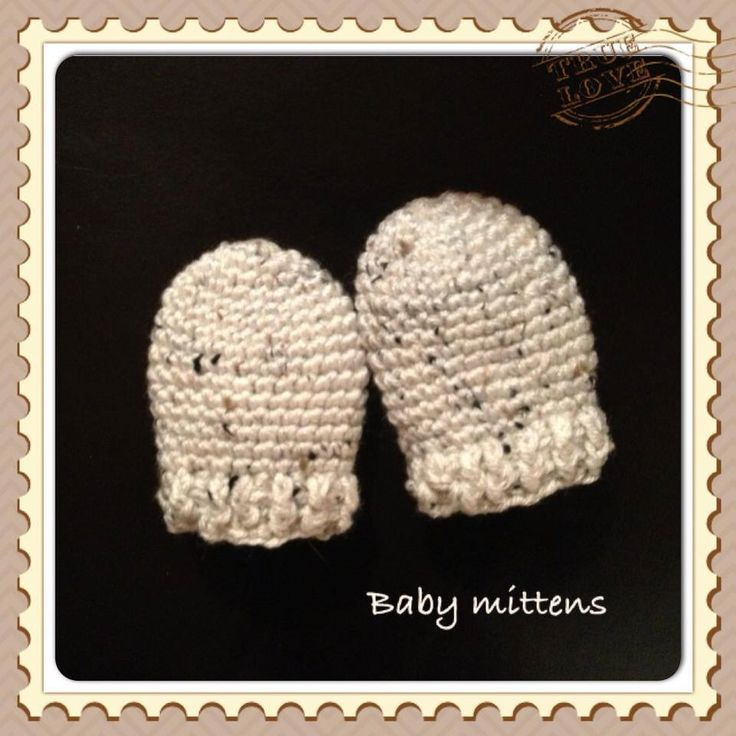 Free Crochet Patterns For Baby Mittens : Free Pattern: Crochet Baby Mittens Crocheting Pinterest