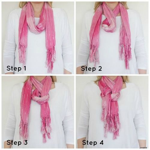 How to Tie a Womens Neck Scarf How To Tie Fashion Neck Scarves