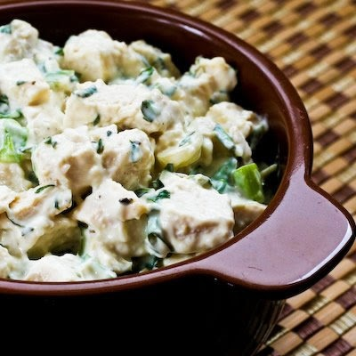 Chicken Salad with Basil and Parmesan (Low-Carb, Gluten-Free) | Recipe