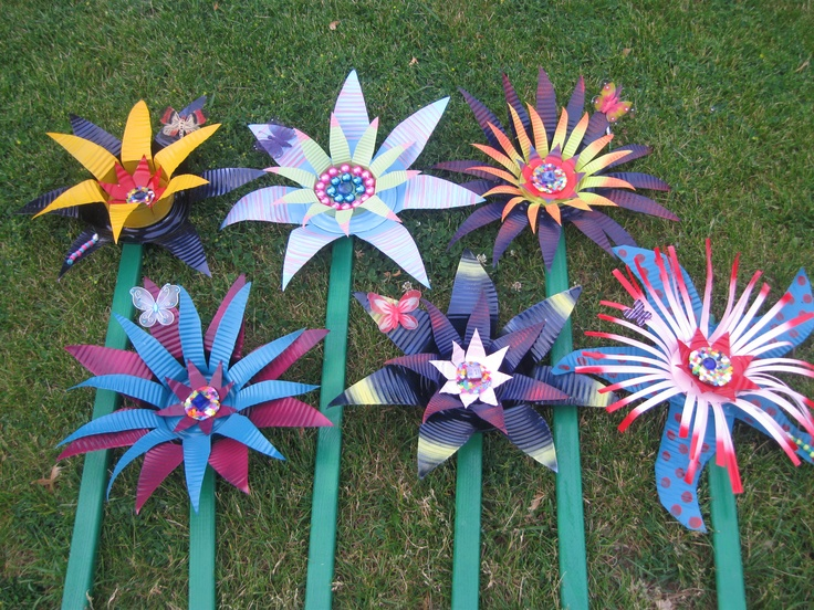 tin can flowers auction art projects pinterest