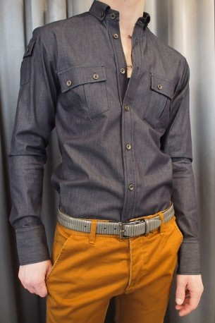 Johnny Love mayweather denim shirt $175.