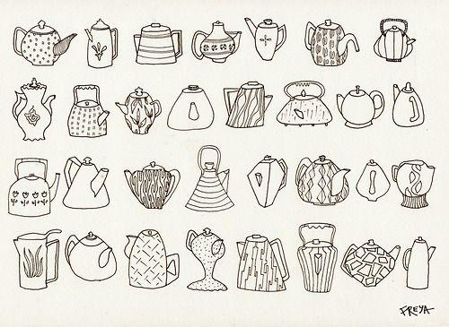 Teapots  Draft Copy   Freya FlavellTeapot Drawing Tumblr