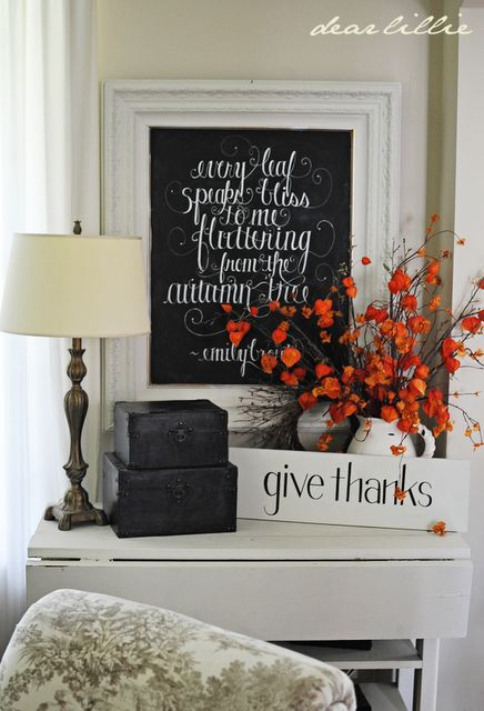 fall chalkboard (bronte quote); simple, sophisticated