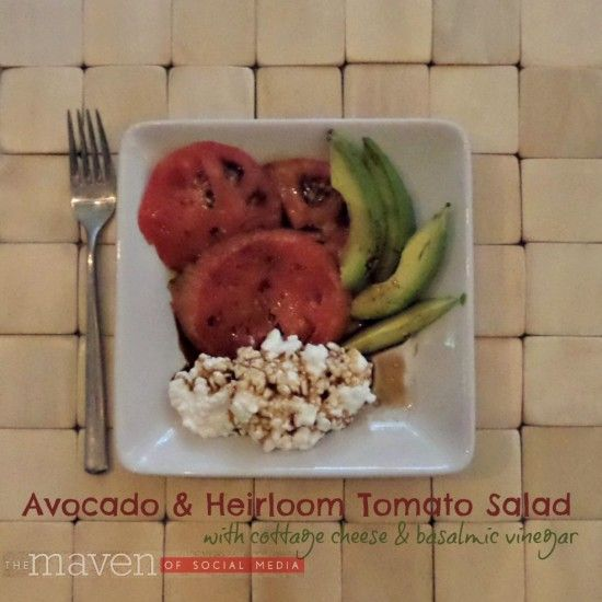 Avocado Salad with Heirloom Tomatoes #iloveavocados #mc #ad