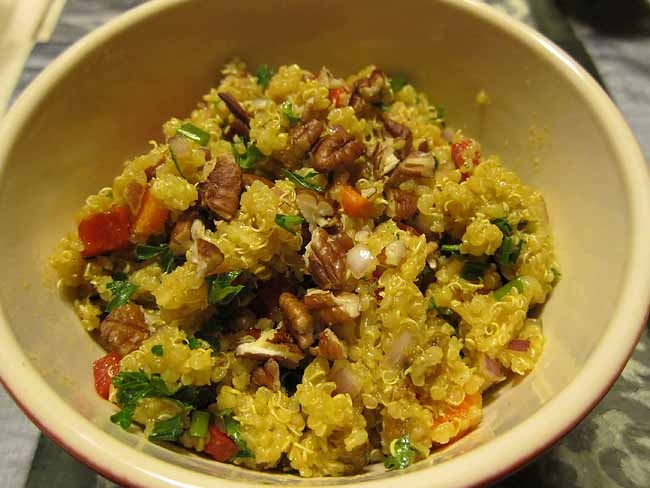 Curry Quinoa Side Dish | Food to Make or Makeover | Pinterest