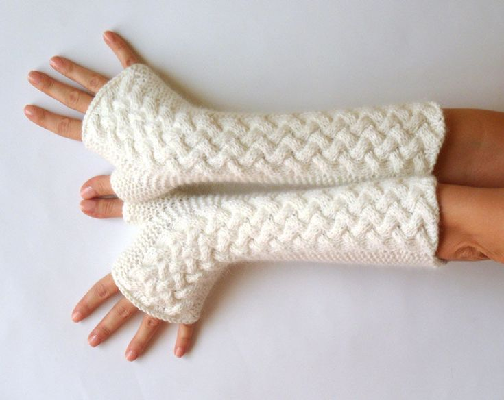 Knit Arm Warmer Pattern : Knit Fingerless Gloves Patterns Cab
