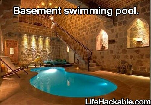 Basement ideas images frompo for Basement swimming pool ideas