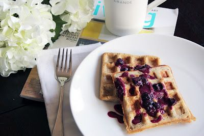 Poppy Seed Garbanzo-Oat Waffles ~ The Skinny Weigh (V/GF) The waffles ...