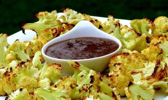 Oven-Roasted Cauliflower with Raisin Vinaigrette