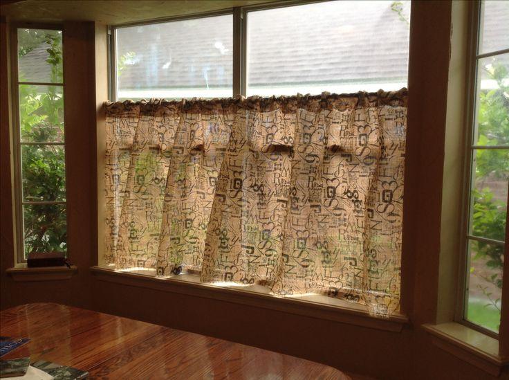 burlap kitchen curtains kitchen pinterest