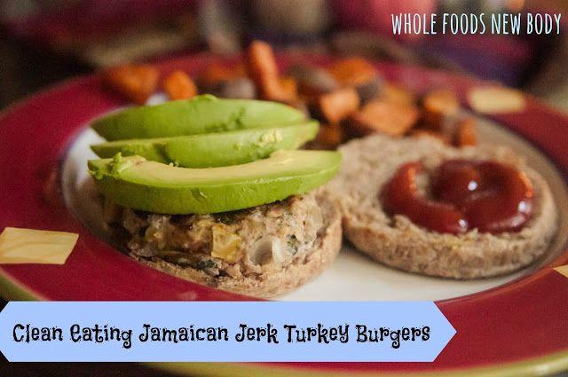 Clean Eating Jamaican Jerk Turkey Burgers}