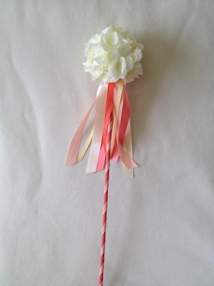 Flower girl wand i made wedding ideas pinterest for Flower wand