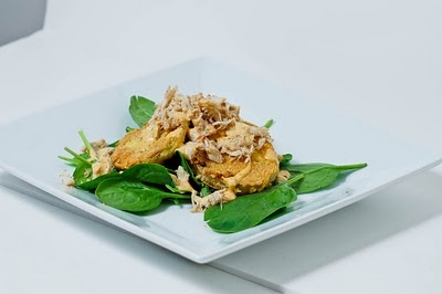 Fried Green Tomato Salad w/ Lump Crab & Remoulade Dressing